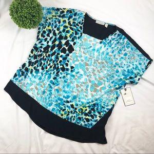 3/$20 NWT Dana Buchman leopard short sleeve top